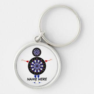 Dart Player Fun Key Ring