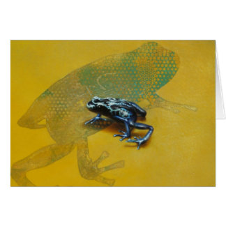 Dart Poison Frog Blank Card by Andrew Denman