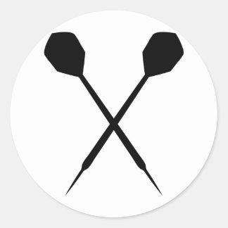 dart sport icon classic round sticker