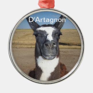 D'Artagnon Silver-Colored Round Decoration