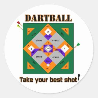 Dartball Classic Round Sticker