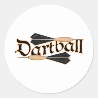 Dartball Darts Classic Round Sticker