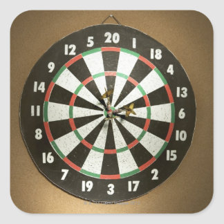 Dartboard 3 square sticker
