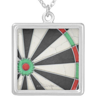 Dartboard 4 silver plated necklace