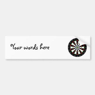 Dartboard background bumper sticker