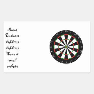 Dartboard background rectangular sticker