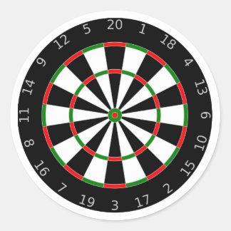 Dartboard background round sticker