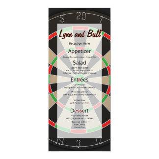 Dartboard Bulls-eye Darts Lover Wedding Menu Card