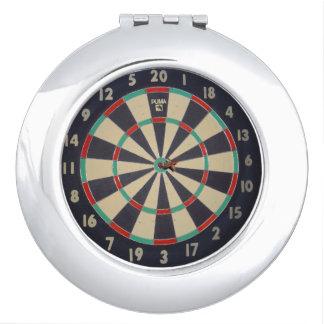Dartboard Bullseye, Compact Mirrors