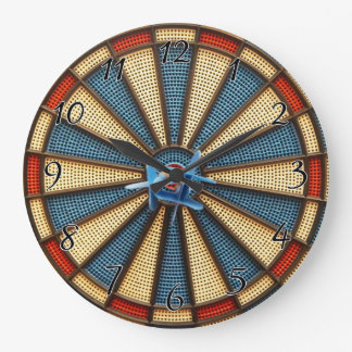 Dartboard Bullseye Large Clock