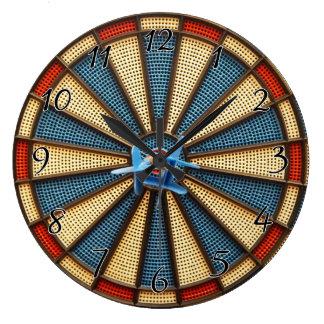 Dartboard Bullseye Wall Clocks