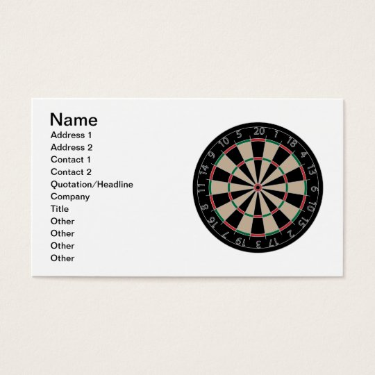 Dartboard Business Card