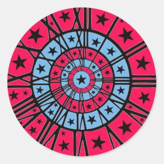 Dartboard Clock Round Sticker