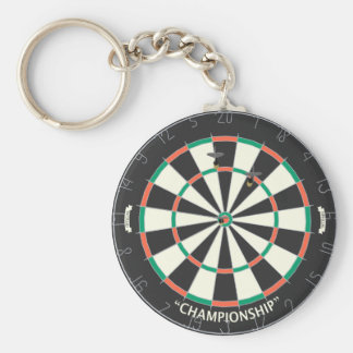 Dartboard & Darts: 3D Model: Basic Round Button Key Ring