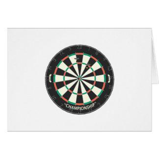 Dartboard & Darts: 3D Model: Greeting Card