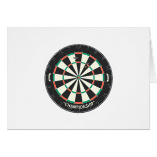 Dartboard & Darts: 3D Model: Greeting Card