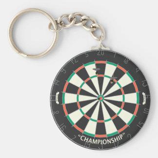 Dartboard & Darts: 3D Model: Key Ring