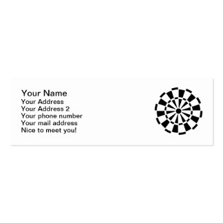 Dartboard Darts Pack Of Skinny Business Cards