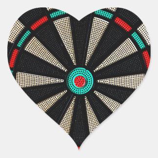 Dartboard design heart sticker