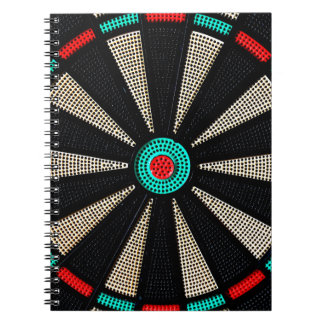 Dartboard design spiral notebooks