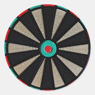 Dartboard design round stickers