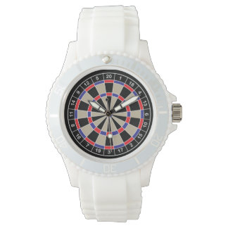 Dartboard Face Sport Watch