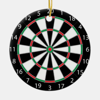 DARTBOARD! (game of darts) ~ Round Ceramic Decoration