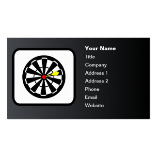 Dartboard Logo Customizable Black Double-Sided Standard Business Cards (Pack Of 100)