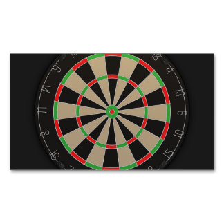 Dartboard Lover Magnetic Business Cards