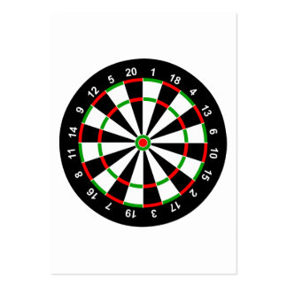 Dartboard Pack Of Chubby Business Cards