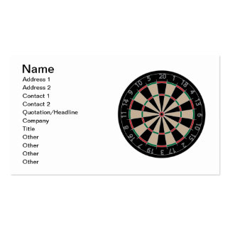 Dartboard Pack Of Standard Business Cards