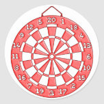 Dartboard Round Stickers