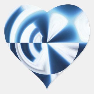 Dartboard Sky Heart Sticker