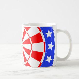 Dartboard USA Flag Basic White Mug