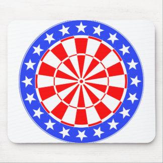 Dartboard USA Flag Mousepad