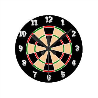 Dartboard Wall Clock. Wallclock