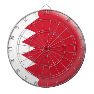Dartboard with 6 darts Bahrain flag