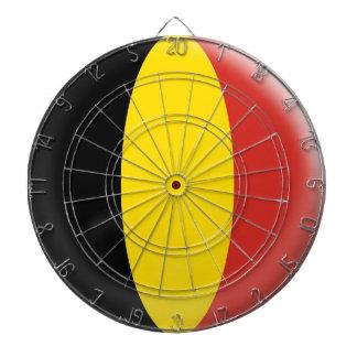 Dartboard with 6 darts Belgium flag