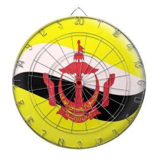 Dartboard with 6 darts Brunei flag