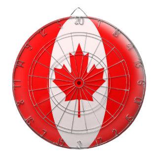 Dartboard with 6 darts Canada Canadian flag