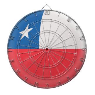 Dartboard with 6 darts Chile Chilean flag