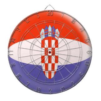 Dartboard with 6 darts Croatia Croatian flag