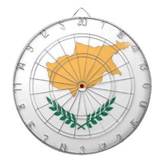 Dartboard with 6 darts Cyprus Cypriot flag