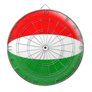 Dartboard with 6 darts Hungary Hungarian flag