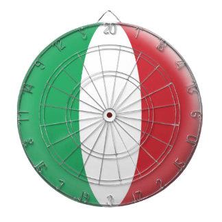 Dartboard with 6 darts Italy Italian flag