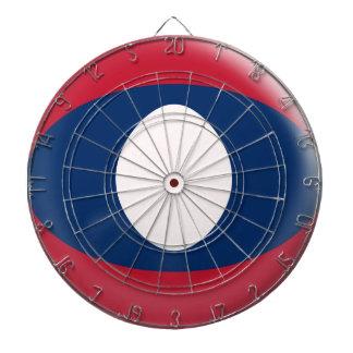 Dartboard with 6 darts Laos flag