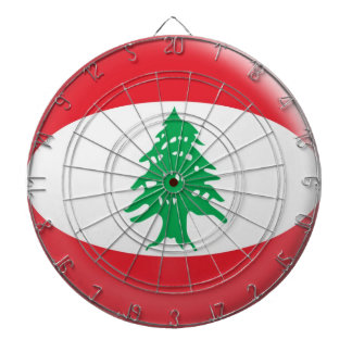 Dartboard with 6 darts Lebanon flag