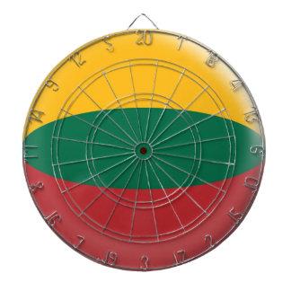 Dartboard with 6 darts Lithuania Lithuanian flag