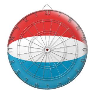 Dartboard with 6 darts Luxemburg flag