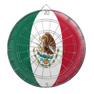 Dartboard with 6 darts Mexico Mexican flag